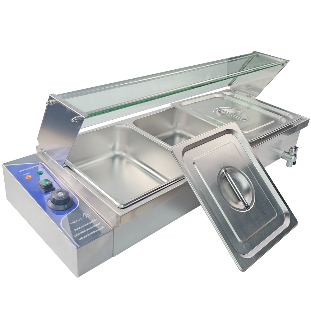 Electric table top 3 tanks bain marie Electric soup pool commercial insulation deep soup stove