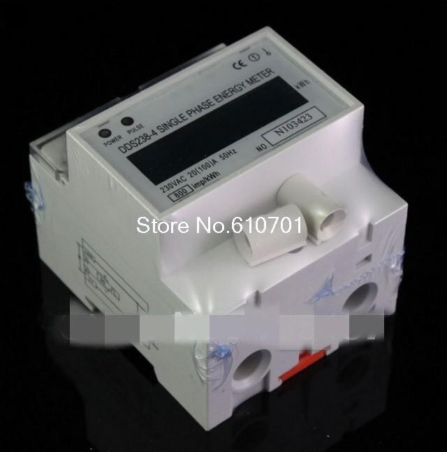все цены на DDS238-4 Single Phase LCD 20~100A 230VAC 50Hz DIN-rail Kilowatt Hour kwh Energy Meter онлайн