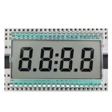 Edc190 4-х разрядный 7-сегментный ЖК-дисплей Дисплей цифровые часы трубки статической вождения 5 В 50.8×30.48×2.8 мм полупрозрачная TN положительные Дисплей