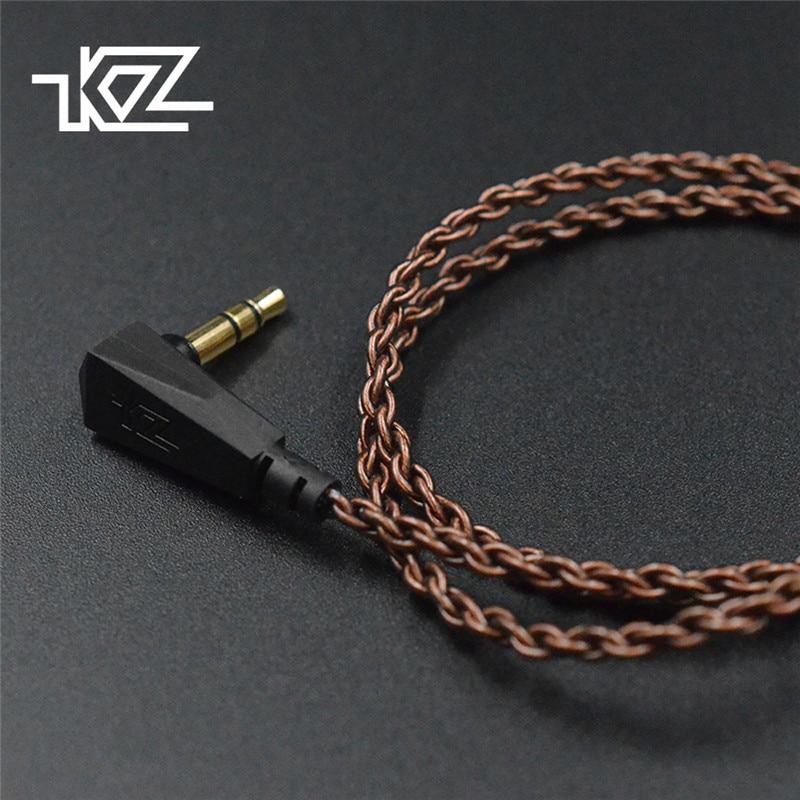 KZ ZS10 D'origine Câble Haute-Pureté D'oxygène-Livraison De Cuivre Torsadée Mise À Niveau Câble KZ 2pin Câble Pour KZ ZS10 /ZST/ES3/ES4/ZS6/ZSA/ED16