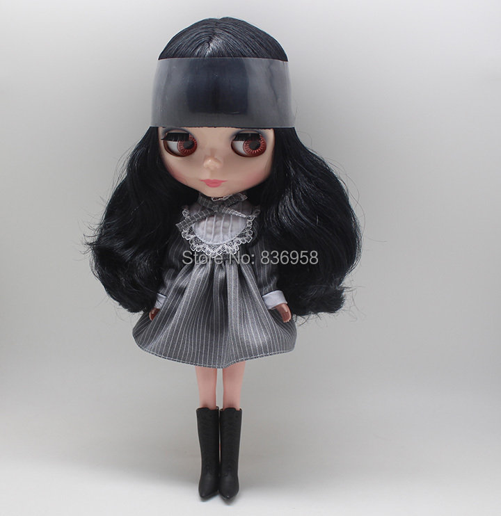Nude Doll For Series No.9601 long BLACK HAIR цена