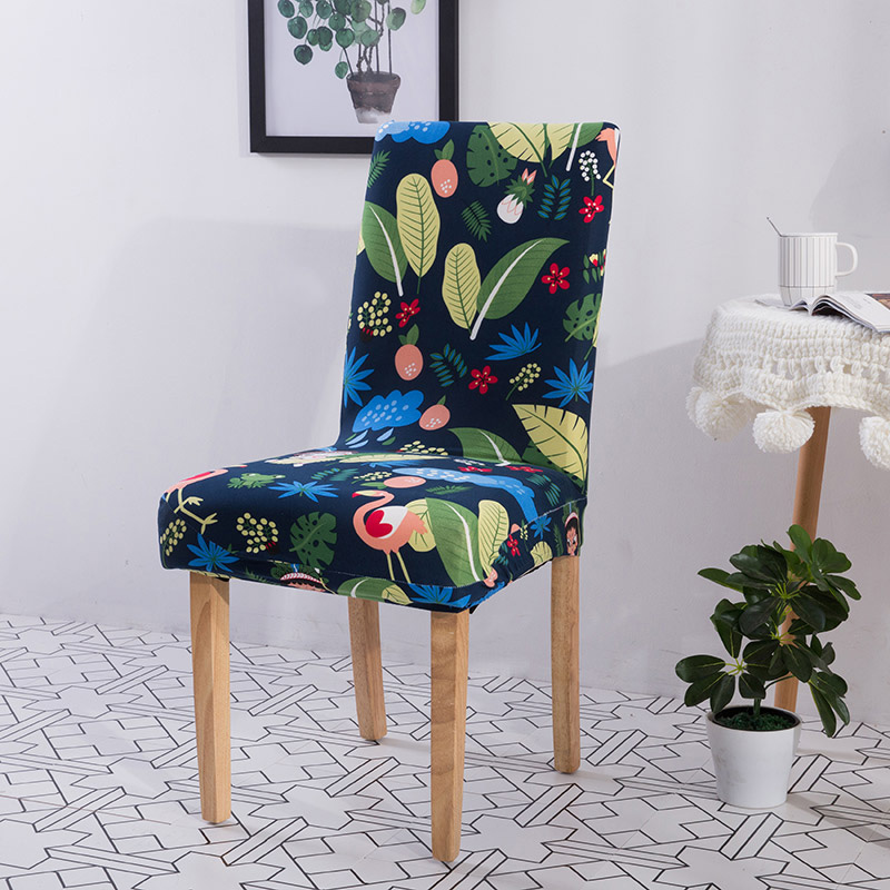 Chair Covers Spandex Modern Removable Anti dirty Kitchen Seat Case Stretch Chair Cover for Wedding Party Office housse de chaise Chair Cover    - AliExpress