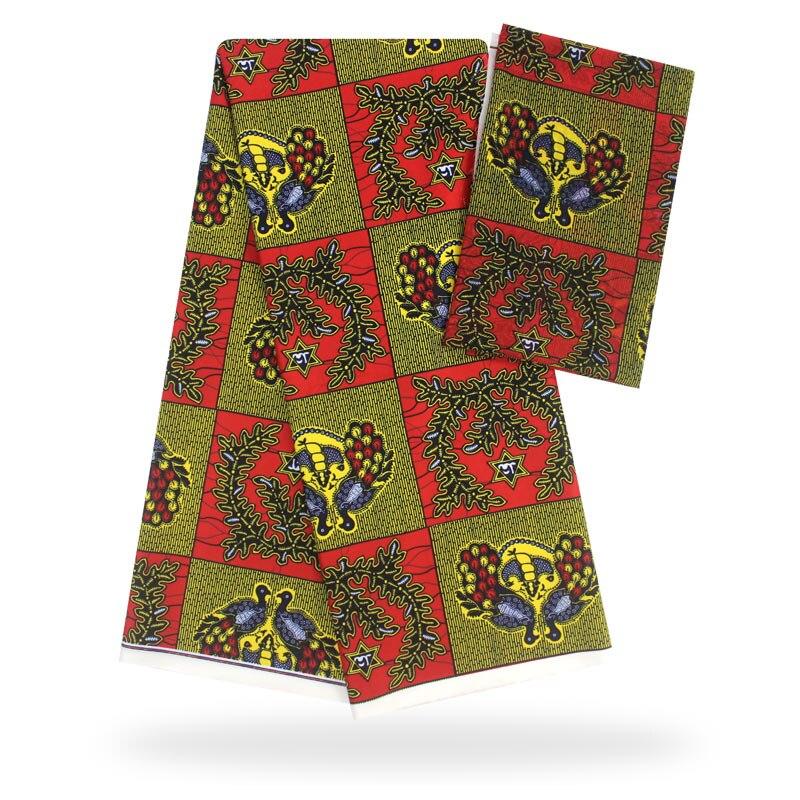 YBG! haute qualité africain cire impression tissu marque Stretch Satin soie tissu tissu soie offre spéciale en gros 4 + 2 yards/lot! L61892 - 5