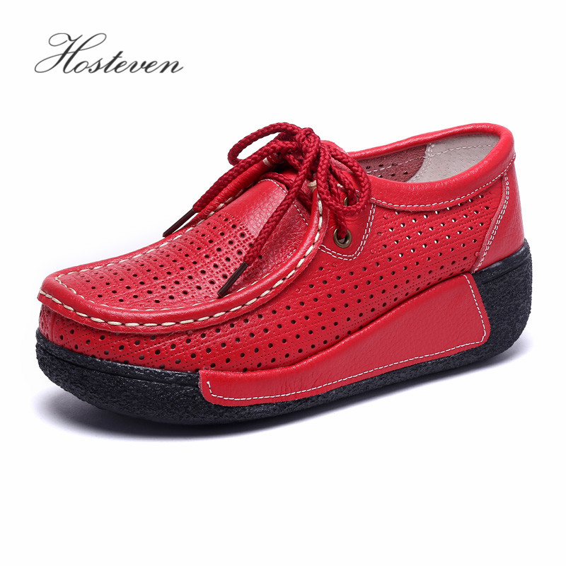 Image 5 - Hosteven Women Shoes Loafers Sneaker Genuine Leather Flats Moccasins Summer Autumn Winter Female Casual Ladies Plush Footware-in Women's Flats from Shoes