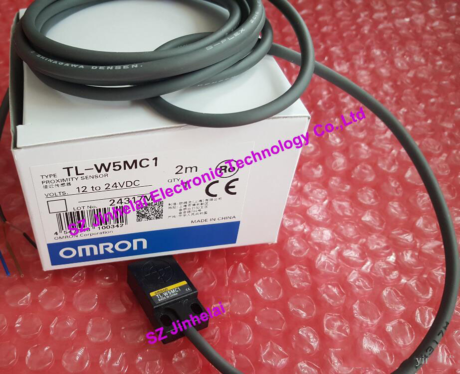 100% New and original  TL-W5MC1, TL-W5MC2  OMRON  Proximity sensor,Proximity switch, 2M   NPN new and original e2s q11 e2s q13 omron proximity sensor proximity switch 12 24vdc 1m