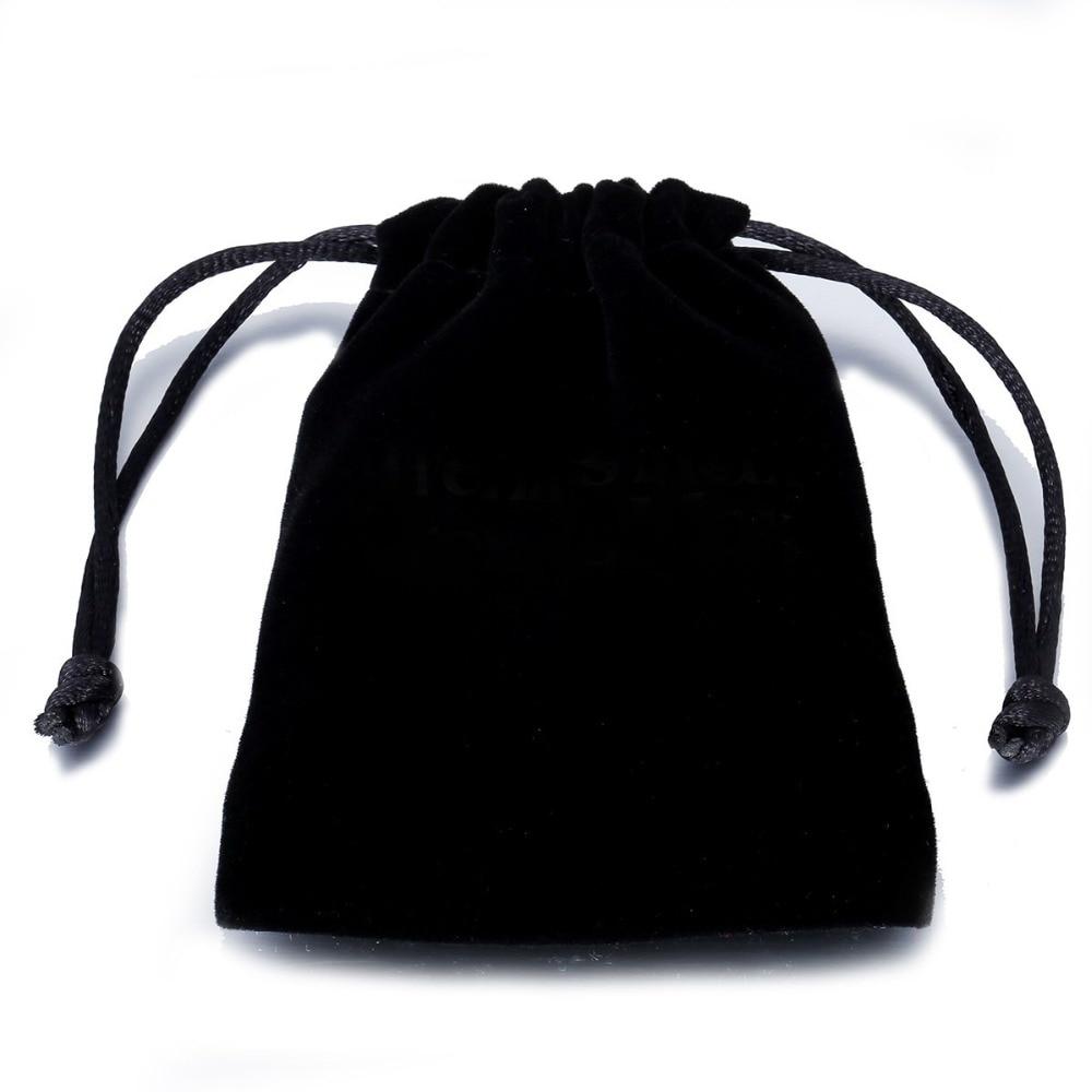 Drawstring Black Velvet Bag Multi Size 7cm*8cm Jewelry Packaging Velvet Bag Gift Bag BAG01Z6