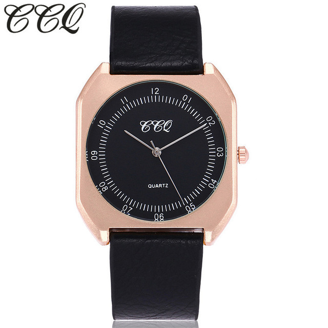 CCQ Brand New Fashion  Simple Super Thin Dial Watches Luxury Women Watches Casual Male Quartz Clock Man Watch Wristwatches Gift