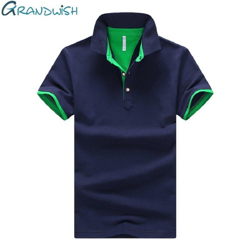 Grandwish 95% Coton Polo Shirt Hommes Turn-down Col Polo Hommes 4XL 2018 Nouveau Homme Camisa Polo Chemises Courtes manches, PA982