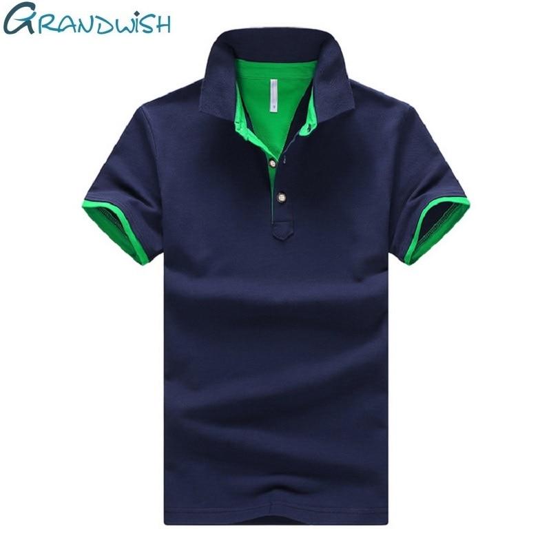 Grandwish 95٪ قطن بولو شيرت رجال بدوره أسفل الياقة بولو رجال 4XL 2018 جديد أوم camisa قمصان بولو قصيرة الأكمام ، PA982