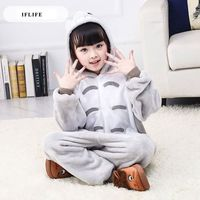 Pijama Infantil Onesie Hooded Kids Animal Cartoon Pajama My Neighbor TOTORO Children Boy Girl Unisex Pyjama