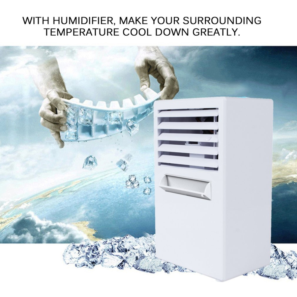 Air cooler Desktop Mini Air Conditioner font b Fan b font Humidifier Moisturizing Device Portable Small