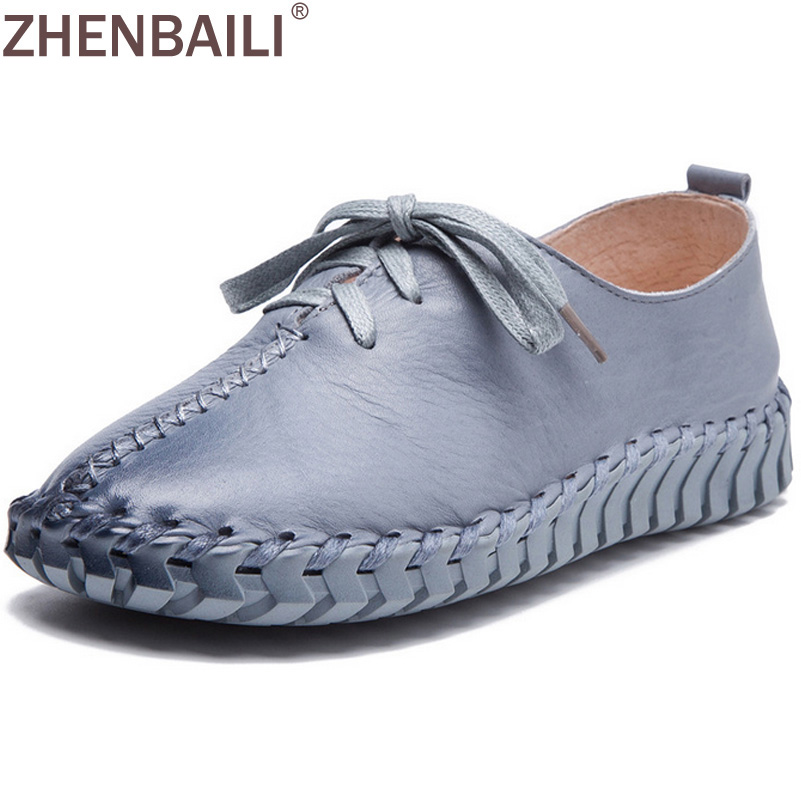 Size 35-41 Fashion Sewing Shoes 2017 Spring Autumn Genuine Leather Casual Women Shoes Cross Tied Low Shoes Lace up Flat Shoes europe america style spring autumn women genuine leather thin high heel lace up low cut fashion denim shoes size 34 41 sxq0709