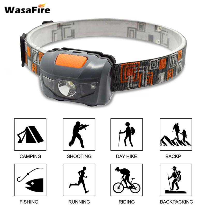 Wasafire Super Mini LED Headlamp 4 Modes Frontal Flashlight White Red Light Head Torch Waterproof Head Lamp For Bicycle Light