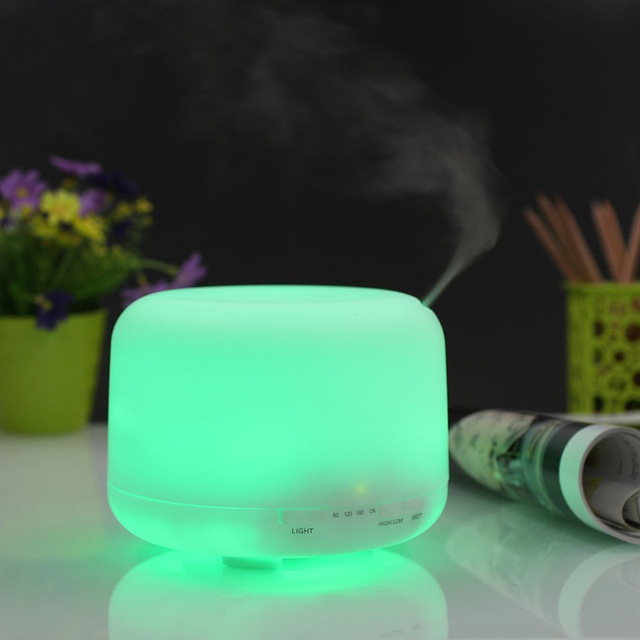 500 ml LED Light Ambientadores de Aire Fabricante de La Niebla Ultrasónica Difusor de Aroma de Aceite Esencial para el Hogar y Dormitorio WA018 T16 0.5