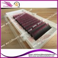 Free shipping 10 trays/lot Highest quality  0.15mm individual  Black-Hot pink two tone color eyelash extension