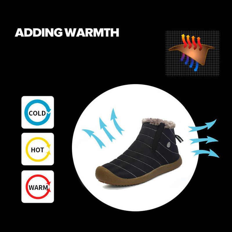 PINSEN 2020 moda kadın kış kar ayakkabıları kadın çizme hafif yarım çizmeler sıcak tutmak su geçirmez bayan yağmur çizmeleri
