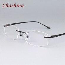 Chashma Brand Trend Pure Titanium Women Rimless Designer Gold Glasses Quality Frame Light Eyewear Frameless Mens Eye Glasses