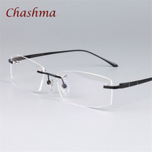 8134199787d9 Chashma Brand Trend Pure Titanium Women Rimless Designer Frame Light Eyewear