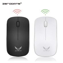 ZERODATE 2.4G mysz bezprzewodowa mysz optyczna 6D mysz komputerowa z 1600DPI na komputer stacjonarny Laptop Pro Gamer