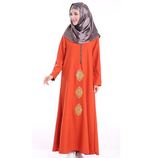 6b092c64fb5c Mujeres Vestido de Estilo Islámico de Dubai Abaya Kaftan Musulmana Arabia  Bata Turco Musulmance Oración islámica