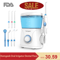 Homgeek oral irrigator toothpicks dental floss toothpicks water flosser thread tooth Whitening water pick Tooth Irrigator