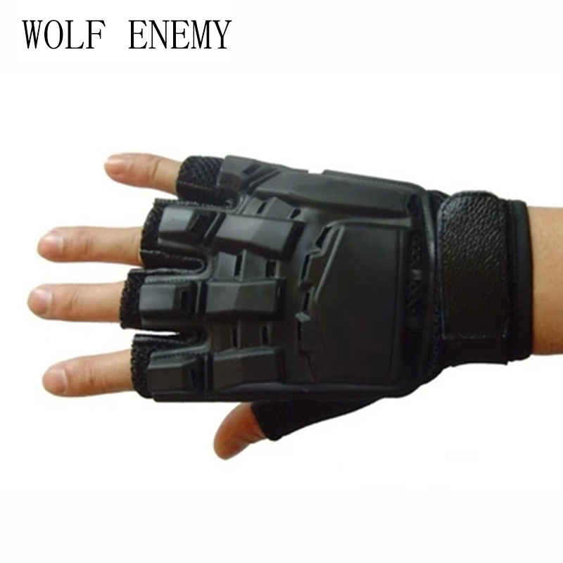 Special Forces Tactical Full-finger Paintball Gloves Gifted Outdoor Equipment Deformed Magic Leather Protection Star Mitten