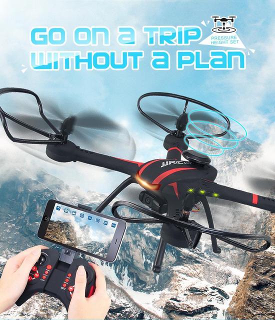 6-eixo F18361 JJRC H11WH 2.4G 4CH WiFi FPV Quadcopter RTF RC zangão Headless Modo Altitude Espera Um Retorno Chave com Câmera 2.0MP