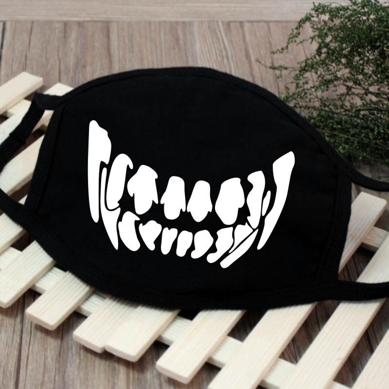 Image 4 - 1PC Cartoon Face Mask Funny Teeth Pattern Unisex Cute Anti 