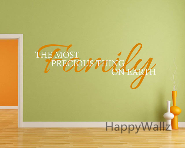 Online Shop Family The Most Precious Thing On Earth Home Quotes Wall ...