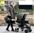 High landscape stroller 3 in 1 baby stroller basket carts