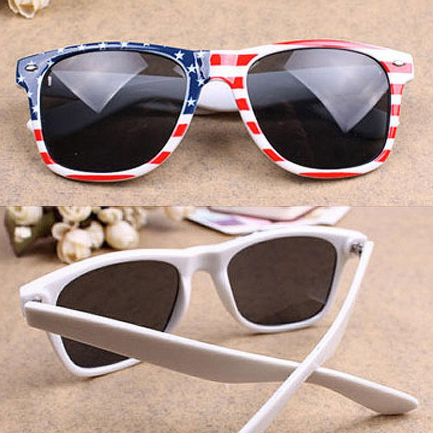 New Arrival Cycling Eyewear Vintage Square Novelty Mosaic Sun Glasses American Patriot Flag Unisex Popular Sunglasses Eyeglasses 2016 new fashion sunglasses women brand designer sun glasses vintage eyewear