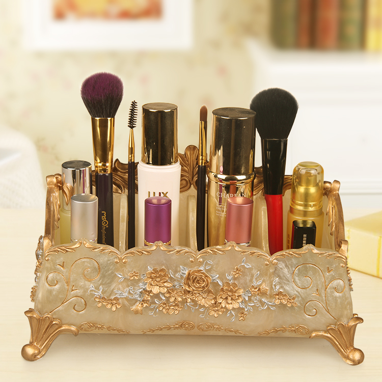 European banquet Doug cosmetic storage box desktop European jewelry skincare without large mirror finishing box