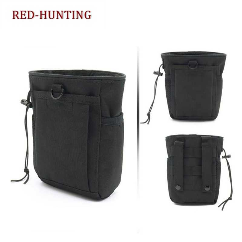 Molle System Hunting Tactical Magazine Dump Drop Pouch Recycle Waist Pack Ammo Bags Airsoft Military Accessories Bag