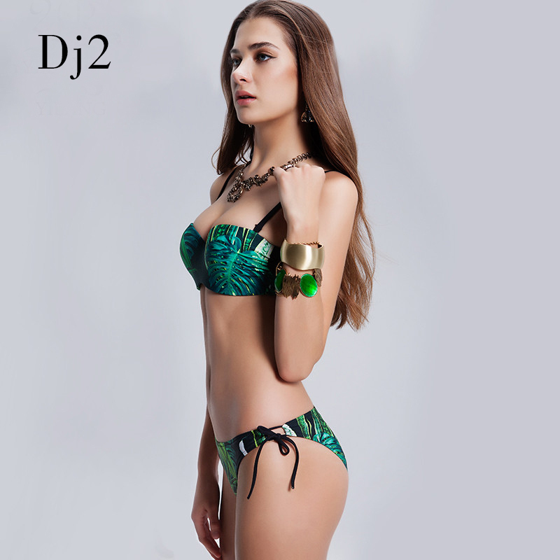 Merk 2017 sexy bandage bikini set vrouwen bikinis badpak hoge taille - Sportkleding en accessoires - Foto 5