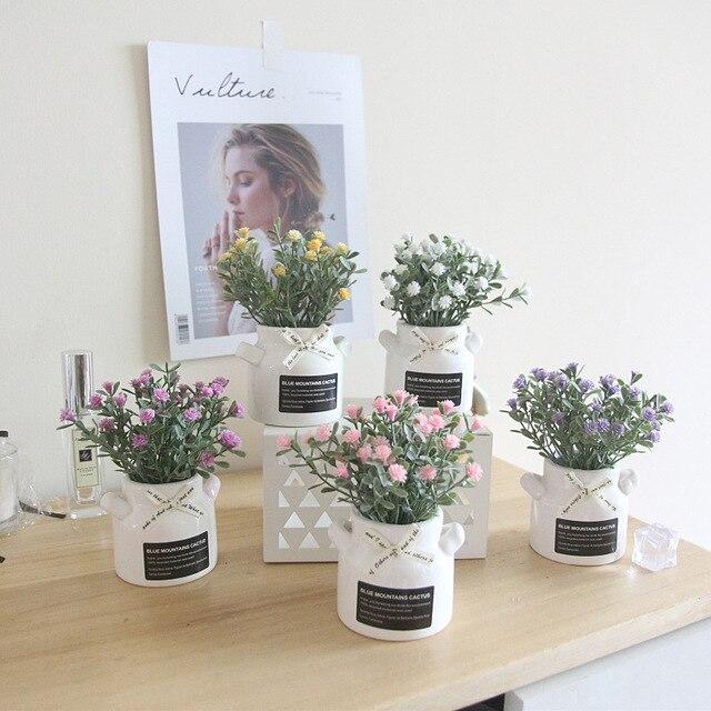 Zinmol Buatan Gypsophila Bunga Tanaman Plastik Lucu Palsu Bonsai Dekorasi  Meja untuk Pernikahan Rumah Hotel Dekorasi 2b5975bd77