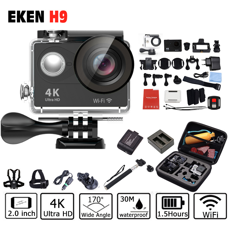 Prix pour Action extérieure Caméra EKEN H9/H9R 1080 P Sport cam deportivas HD étanche go sous-marine pro hero 5 170' angle mini vidéo DV