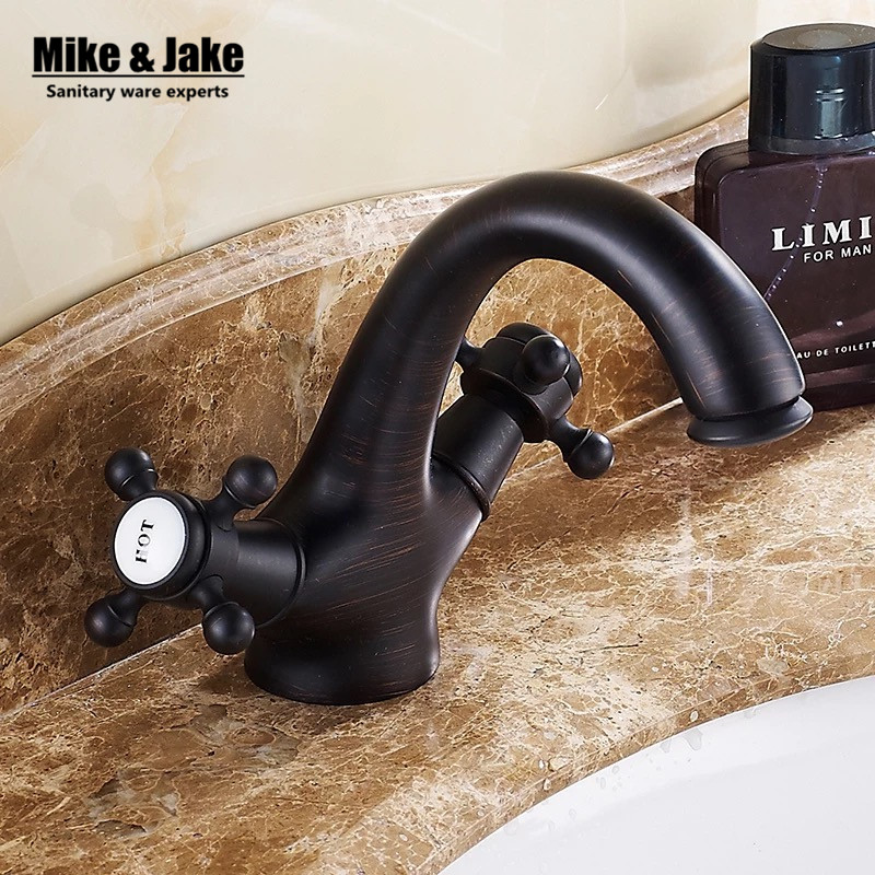 Black bronze Bathroom faucet antique bronze brass tap bathroom faucet Basin tap mixer with diamond single handle antique faucet free shipping bathroom basin faucet with single handle single hole antique brass oil rubbed bronze