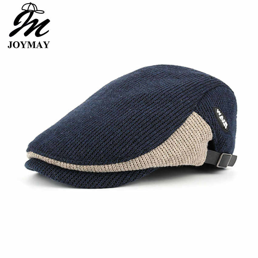 39a5d7912aa JOYMAY New Winter Cotton Berets Caps For Men Casual Peaked Caps Berets Hats  Casquette Cap Y035