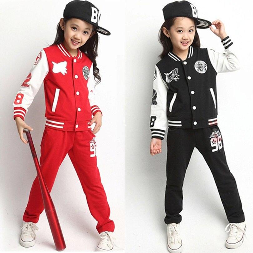 2016 New Big Girls Children's Clothing Sets ( Tops + Pants ...