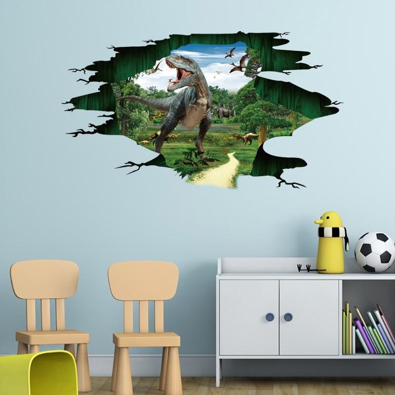 Creative 3d Pvc Wall Stickers Room Decor Wall Stickers Boys Bedroom Diy Dinosaur Decal J2y
