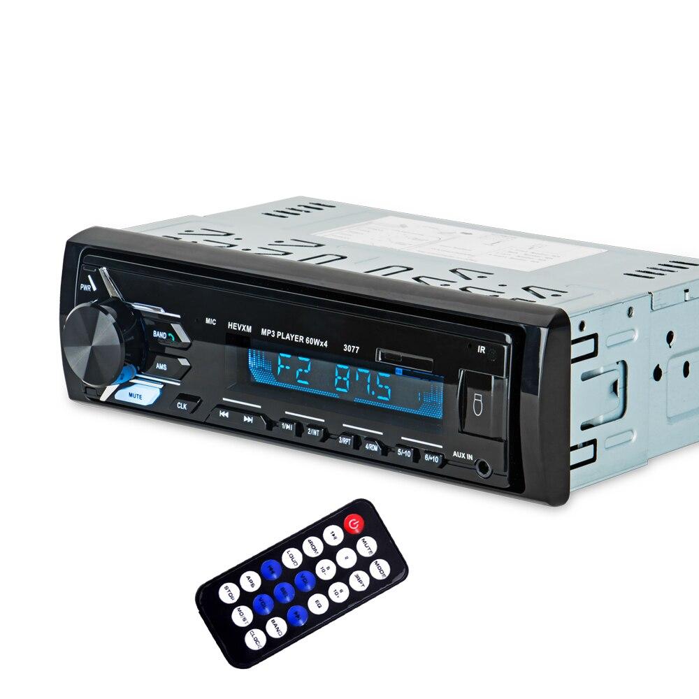 Image 3 - 3077 автомобиль синий зуб MP3 плеер радио Автомобильный MP3 плеер 12 В синий зуб стерео аудио в тире одного 1 din FM приемник Aux Вход-in MP3-плеер для авто from Автомобили и мотоциклы