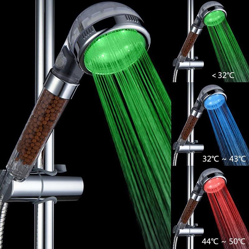 Ninth World Pressurized wate Big LED Shower Head Sprinkler Negative ...