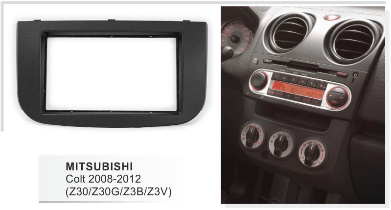 Single DIN Facia Fascia for Mitsubishi Colt 09/> Car CD Radio Stereo