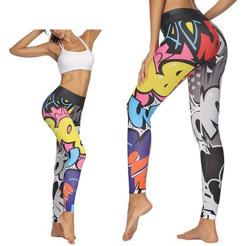 Women High Waist Print Yoga Pants Sports Legging Fitness Gym Running Tights Female Sports Athletic Breathable Legin Pants