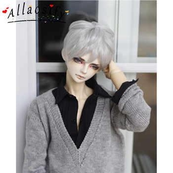 Allaosify วิกผม Bjd/SD as boy ตุ๊กตาหยิก 1/3 1/4 1/6 สูงอุณหภูมิตุ๊กตาวิกผม bjd จัดส่งฟรี