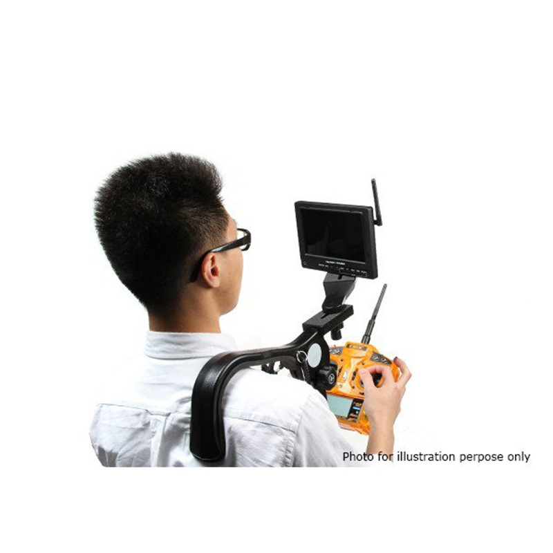 FPV Shoulder Mount Fixed Bracket Base Stand Hands Free For DV Camera Monitor For RC WIFI FPV Drone RC Models Toys Equipment orico tablet laptop monitor bracket for apple imac lenovo asus dell bracket base portable aluminum computer stand