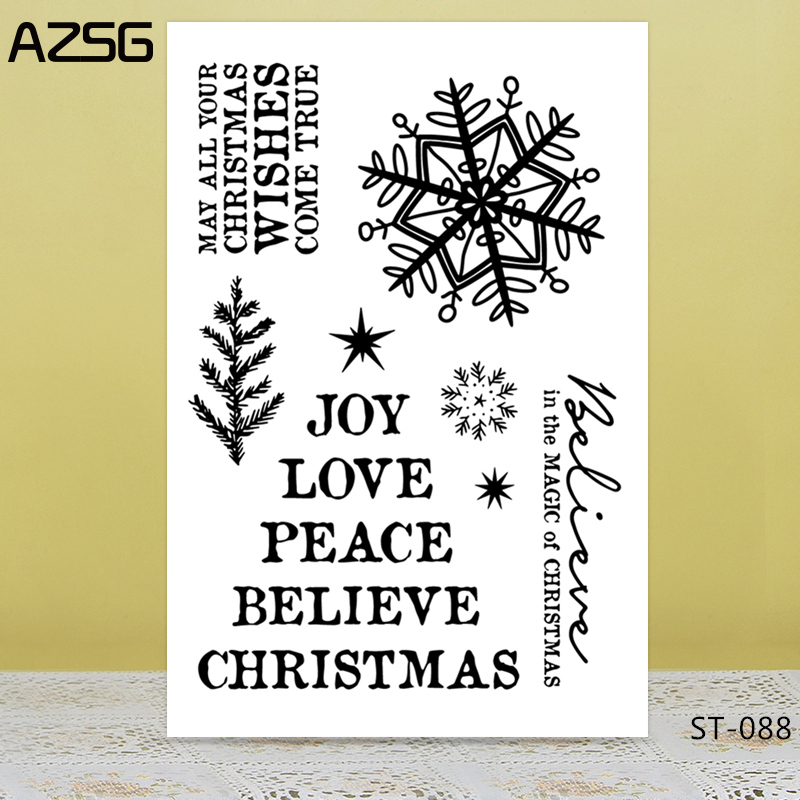 AZSG Leaves And Snowflake Clear Stamps/Silicone Transparent Seals for DIY scrapbooking Card Making 11*16cm