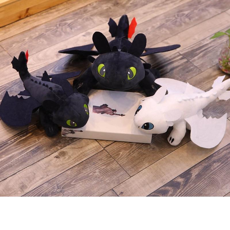 Hot Style 30cm How To Train Your Dragon 3 Plush Toys Toothless Light Fury Anime Figure Night Fury Dragon Plush Doll Toy Children