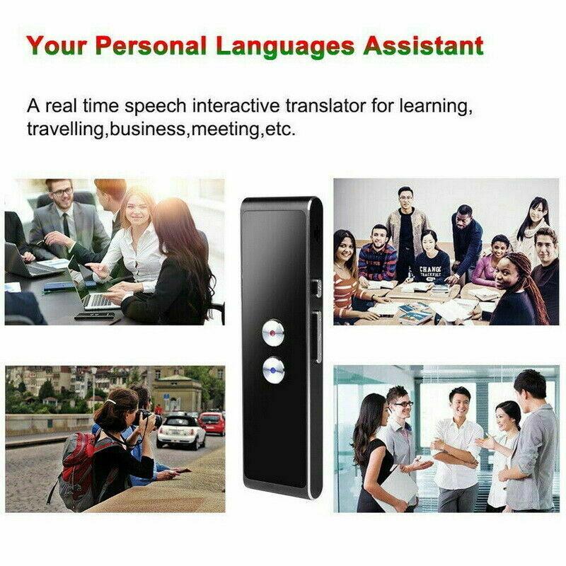 Portable Mini Multi-Language Smart Translator 40 Languages APP Translator Bluetooth Wireless Two-Way Real Time Instant Voice