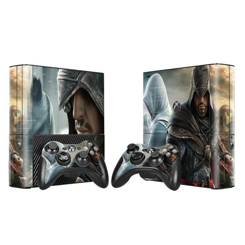 Assassin`s Creed Vinyl Decal Skin Sticker for Microsoft Xbox 360 E slim and 2 controller skins for xbox 360 SLIM E-0004